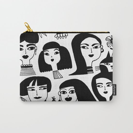 GIRLS AND ONE CAT Carry-All Pouch