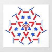 patriotic Canvas Prints featuring Patriotic by Robin Curtiss