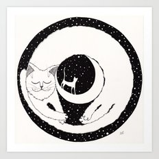 cats life: dreaming Art Print