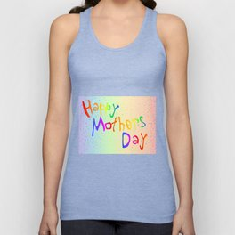 Happy Mothers Day Card Unisex Tank Top
