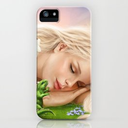 Wake up! Dragon Baby & Elf iPhone Case