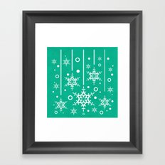 Let it Snow...(Emerald) Framed Art Print