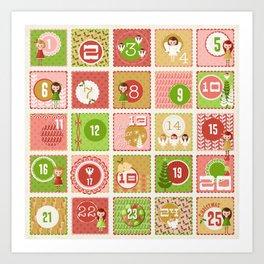 Merriment Christmas Advent Art Print