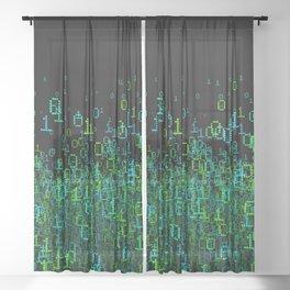Binary Cloud Sheer Curtain