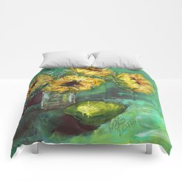 Sunflower with Lime 2 - Painting Comforters