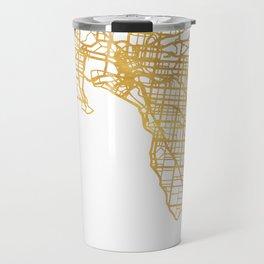 MELBOURNE AUSTRALIA CITY STREET MAP ART Travel Mug