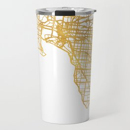 MELBOURNE AUSTRALIA CITY STREET MAP ART Travel Mug