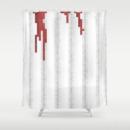 Pixel Blood Shower Curtain Shower Curtain