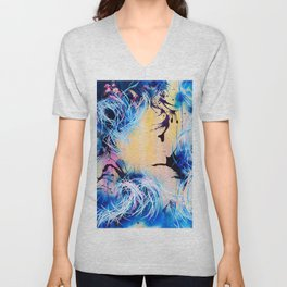 Falling Towards The Sky Unisex V-Neck