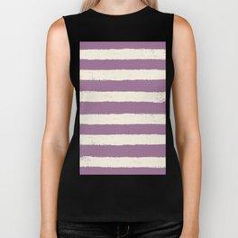 purple stripe Biker Tank