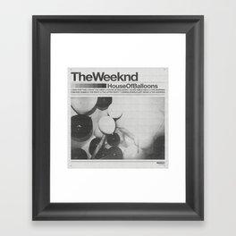 House Of Balloons Framed Art Print