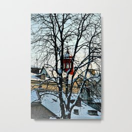 Red Tower Metal Print