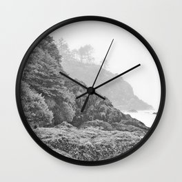 Washington Coast Mist Fog Shoreline Beach Pacific Ocean Long Beach Beards Hollow Forest Northwest Wall Clock