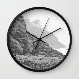 Washington Coast Mist Fog Shoreline Beach Pacific Ocean Long Beach Beards Hollow Forest Northwest Wall Clock