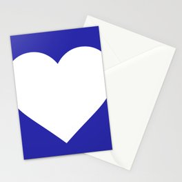 Heart (White & Navy Blue) Stationery Cards
