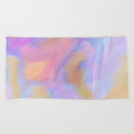 Purple Watercolor Storm Beach Towel