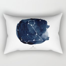 Zodiac Star Constellation - Pisces Rectangular Pillow