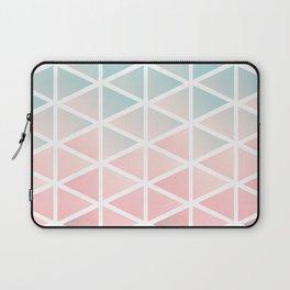 Modern geometric triangles blush pink Laptop Sleeve
