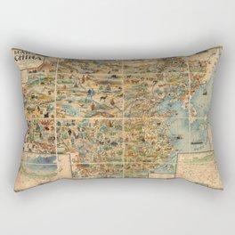 Pictorial Map of China - 1931 Rectangular Pillow