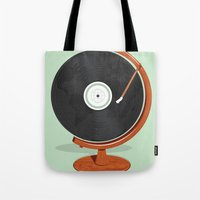 record Tote Bags featuring World Record by Ryder Doty