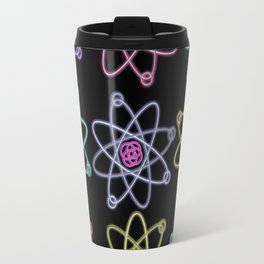 Gold and Silver Atomic Structure Pattern Travel Mug