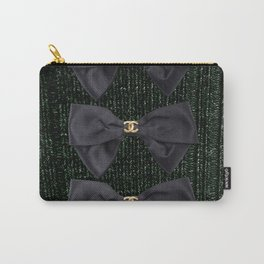 coco vintage bow forest green Carry-All Pouch