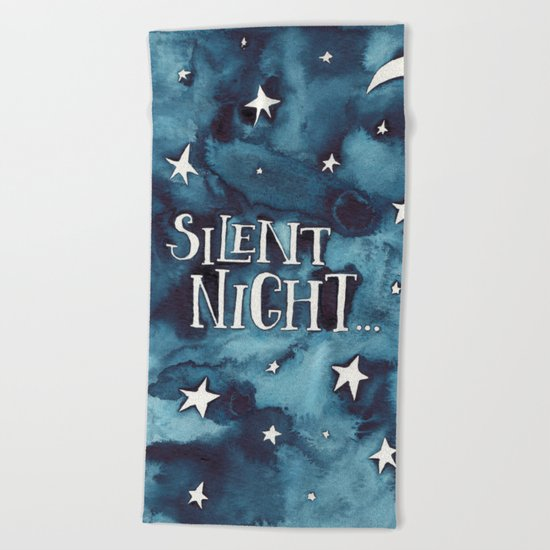 Silent Night... Beach Towel
