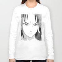 sasuke Long Sleeve T-shirts featuring Sasuke by DeMoose Art