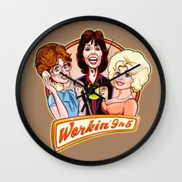 Workin' 9 to 5 Wall Clock