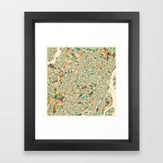 Montreal Map Framed Art Print
