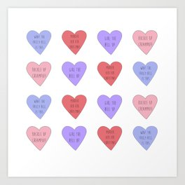 carmilla candy hearts Art Print
