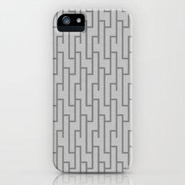 Grey Lattice Work Pattern iPhone Case