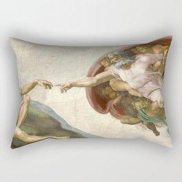 Michelangelo - The Creation of Adam Rectangular Pillow