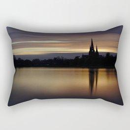 Lichfield Cathedral Sunset Reflection Rectangular Pillow