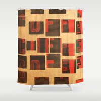 coffe Shower Curtains featuring Coffe - Vintage Drink by Fernando Vieira