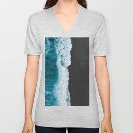 Black Sand Beach Unisex V-Neck