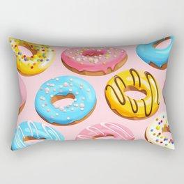 Donuts Pink Modern Decor Contemporary Modern Décor Rectangular Pillow