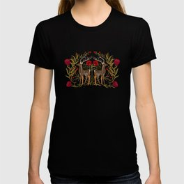 Two Stags Protecting The Dark Forest Gate T-shirt