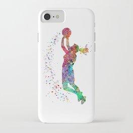 Basketball Girl Player Sports Art Print iPhone Case