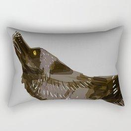 Totem Yukon Black Wolf Rectangular Pillow