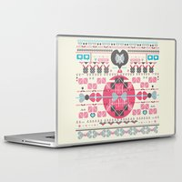 valentines Laptop & iPad Skins featuring Anti Valentines - Fuck Valentines by Tracey Jane Bradley