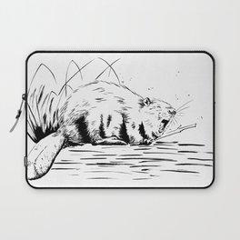 Beaver Yawn Laptop Sleeve