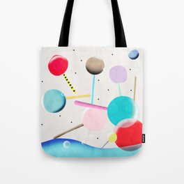 Lolli pop floating water waves and bubbles Tote Bag