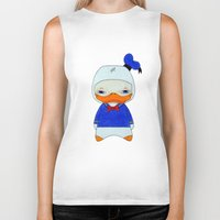 donald duck Biker Tanks featuring A Boy - Donald Duck by Christophe Chiozzi