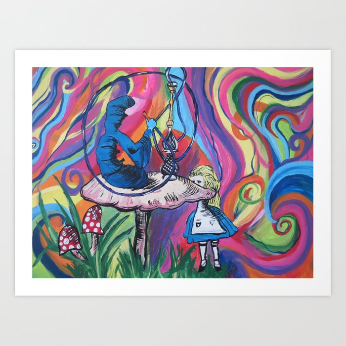 Trippy Alice In Wonderland Art Print