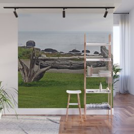 Driftwood Fence and the Sea Wall Mural