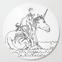 Mare and Foal Mythos Cutting Board