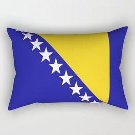 Flag of Bosnia – Bosnian,Bosniak,herzegovinian,bosna,Sarajevo,Balkan,yugoslavia. Rectangular Pillow