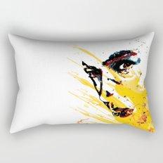 Street art yellow painting colors fashion Jacob's Paris Rectangular Pillow