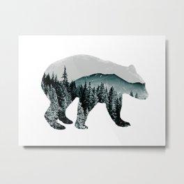 slate spirit bear Metal Print